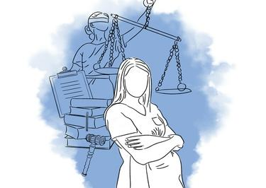 Schwangere-Pflegekraft-Justitia-Illustration